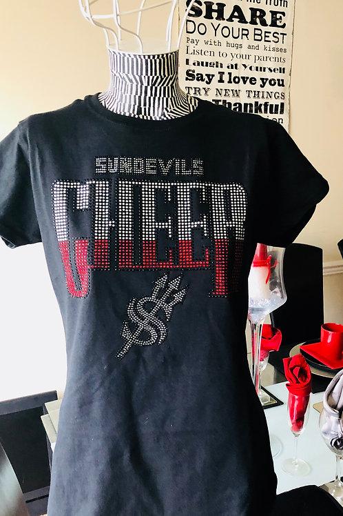 (Custom Shirts) Salem HS Cheer Bling shirt