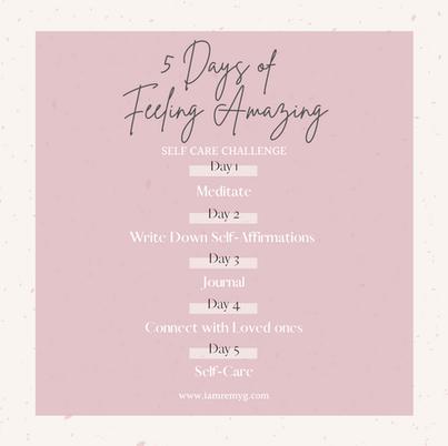 5 Days of Feeling F*cking Amazing!