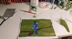 Glitter Pop Art Blue Bird
