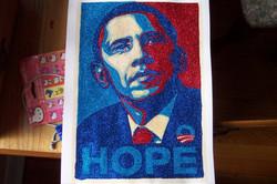 Glitter Pop Art Obama Art
