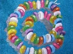 Glitter Pop Art Candy Necklace
