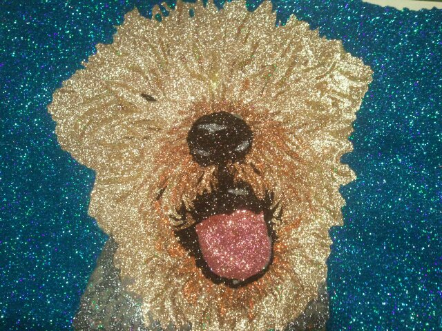 Glitter Pop Art Dog