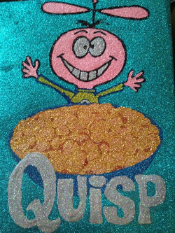 Glitter Pop Art Quisp Cereal Box