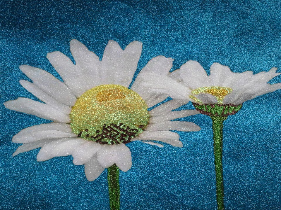 Glitter Pop Art Daisy