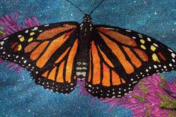 Glitter Pop Art Monarch