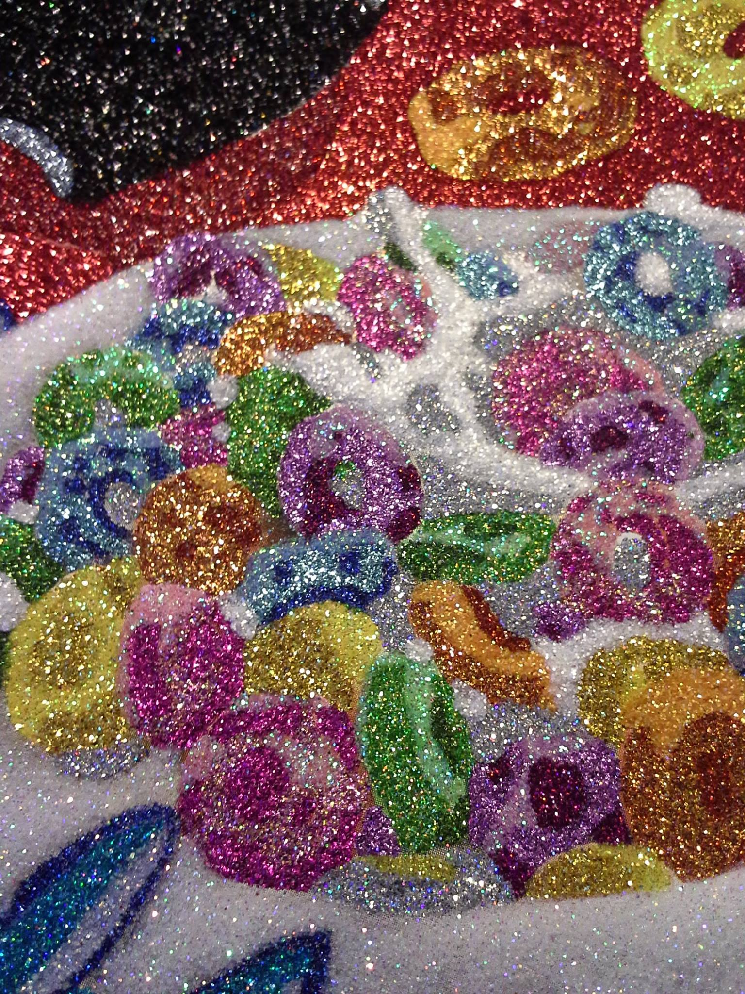Glitter Pop Art - closeup fruitloops