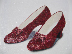Glitter Pop Art  Dorothy's Slippers