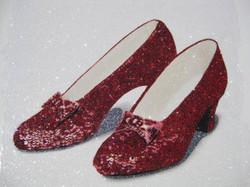 Glitter Pop Art  Dorothy's Slippers