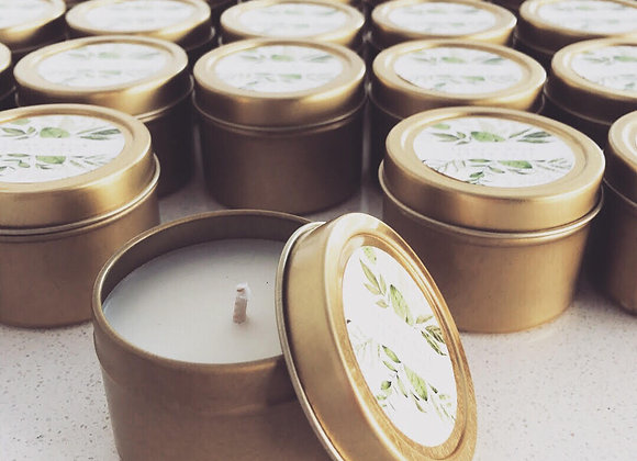 CUSTOMISED SOY CANDLES [TRAVEL TINS]