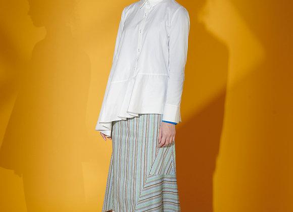 Asymmetric Poplin Shirt