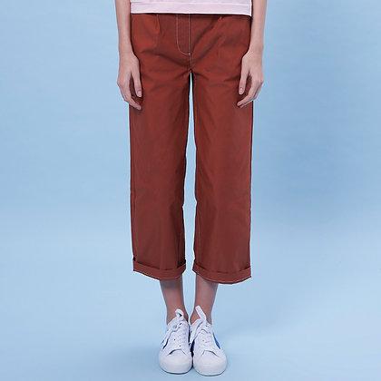 Pleated Crop Pants