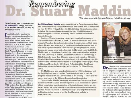 Remembering Dr. Stuart Maddin