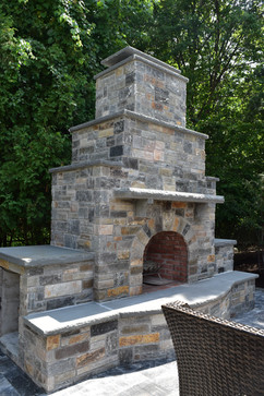 Custom Masonry Fireplace