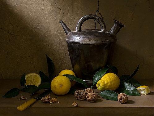 Càntir i llimones - Tirage original