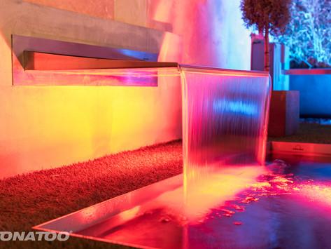 Die Wasserspielbeleuchtung - eine Bereicherung für Ihr Wohlbefinden.