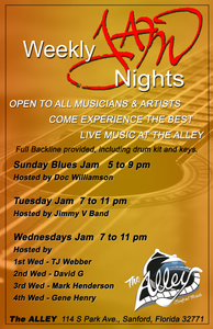 Jimmy V Band - Hosts the Tuesday Night Jam 7-11pm! All genres of