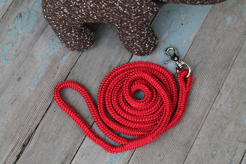 Red rope pet leash