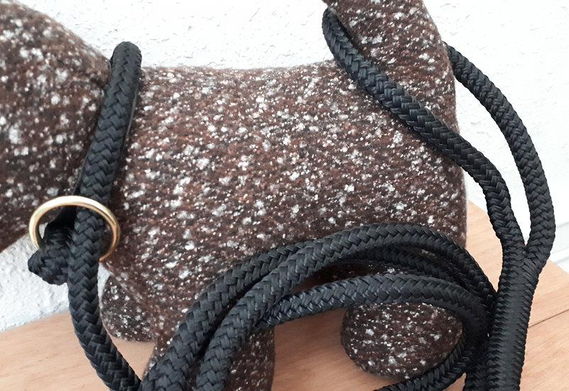 Rope Slip Leash - black