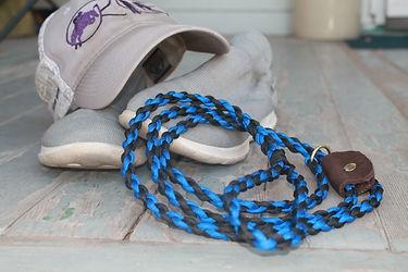 Custom made handmade pet dog slip leash,
