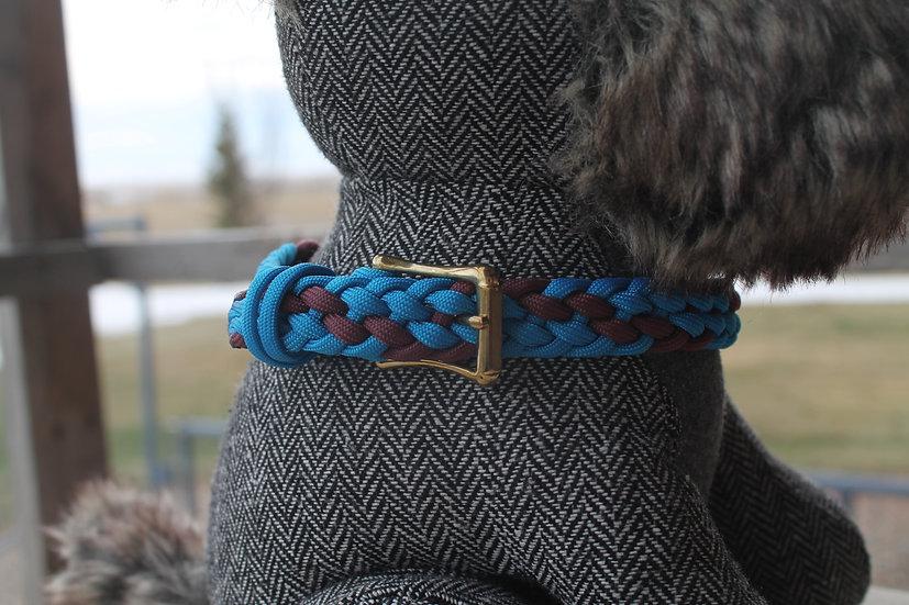 Braided paracord pet collar