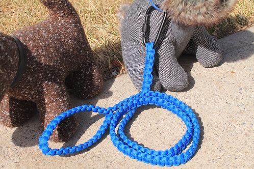 Blue cobra stitch leash