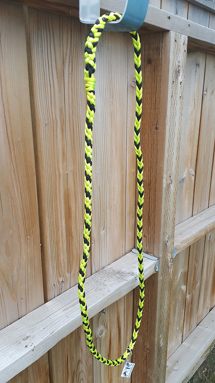 Paracord neck rope, yellow & black