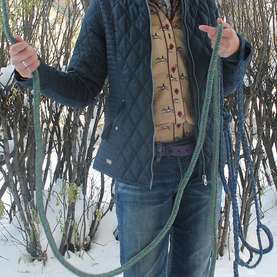Braided Lead Rope - green/grey