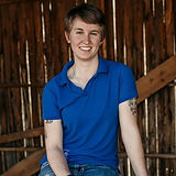 Sarah Laye, the wife half of the Laye's Creations team, proudly Canadian made horse tack,