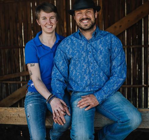 Bob and Sarah Laye, the husband and wife team behind Laye's Creations handmade horse tack,