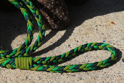 Med. yellow & green paracord leash