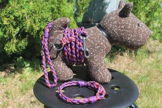Matching set, paracord pet collar, leash, and waist trainer