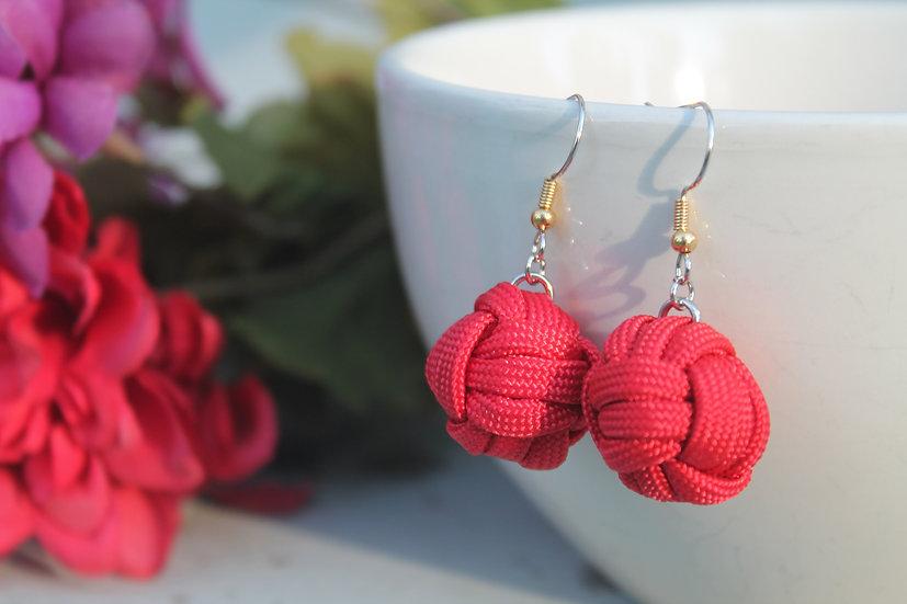 M.F. Earrings in red