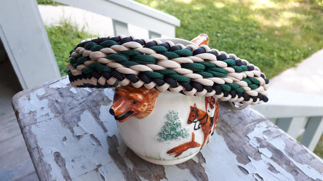 Weaved paracord pet collar