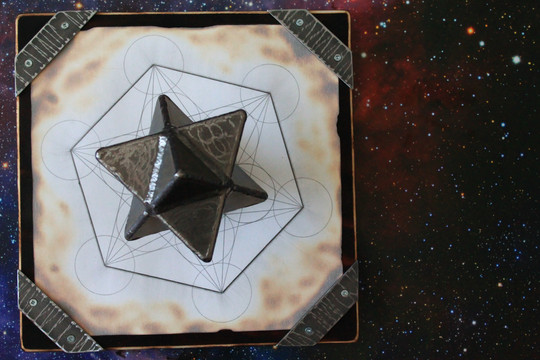 handwelded merkabah home decor on hand d