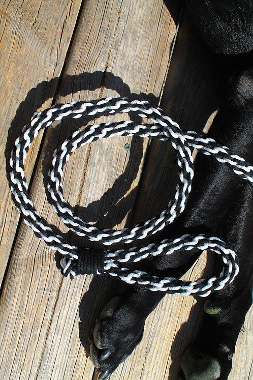 Black & white cotton leash