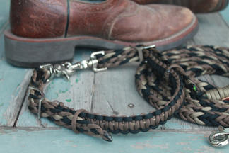 Braided paracord wither strap