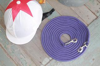 Hand spliced rope reins