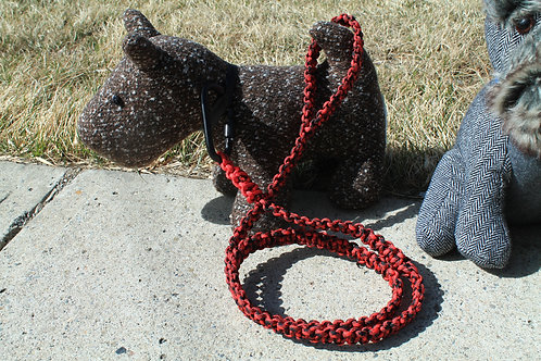 Red & black cobra leash