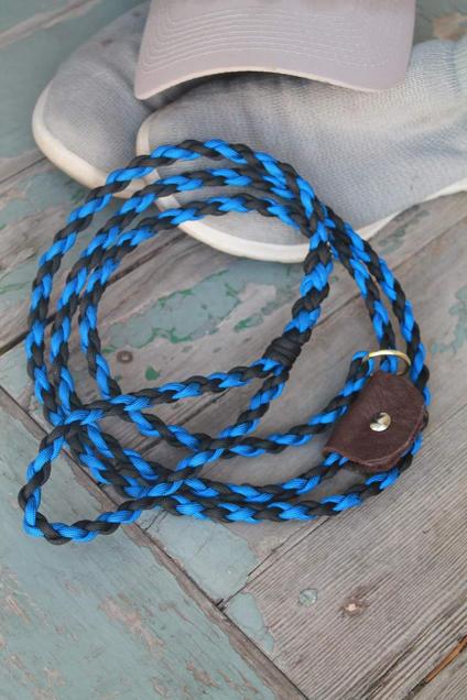 Braided paracord pet slip leash