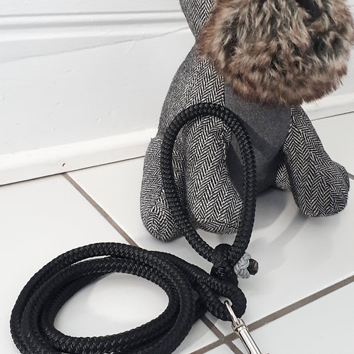 Rope Leash - grey/black