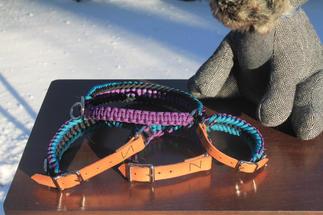 Hand weaved paracord pet collar set