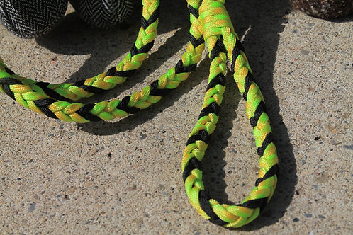 Med. yellow & black paracord leash