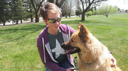 Sarah and rescue dog, Cash.jpg