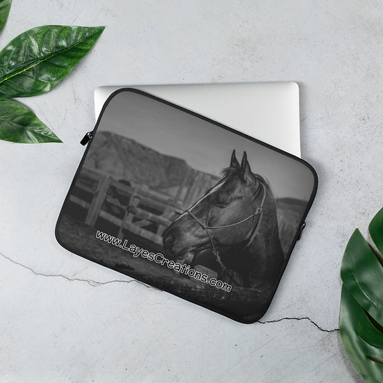 Laptop Sleeve - QH At The Hitching Rail