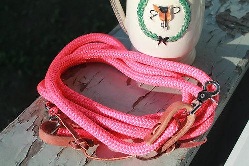 Nylon roping reins, pink