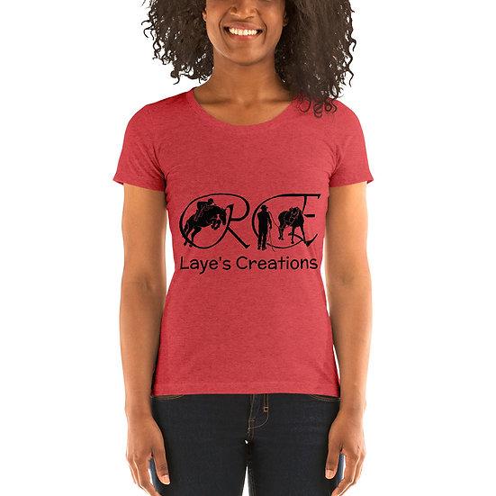 Ladies' short sleeve t-shirt - black logo