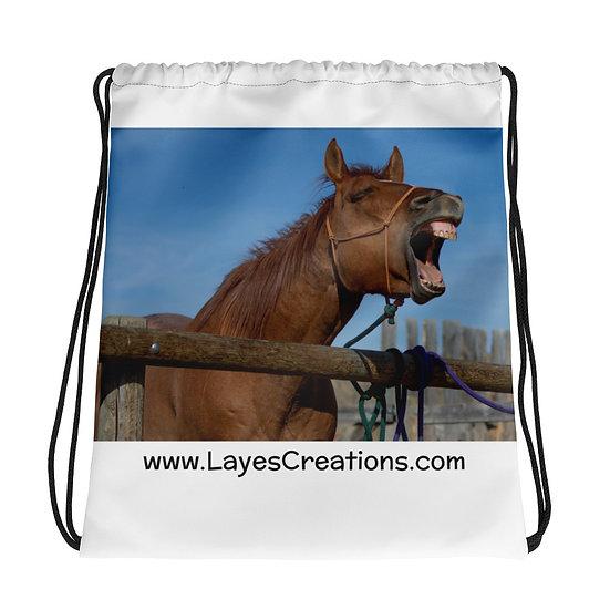 Drawstring bag - Quarterhorse Yawn