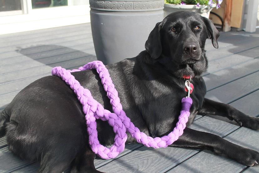 Purple fleece dog leash