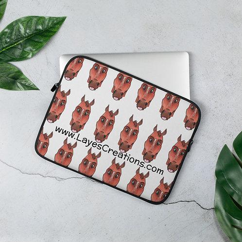 Queen of Groundwork laptop sleeve