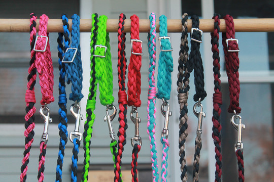 Handmade matching leash and collar sets